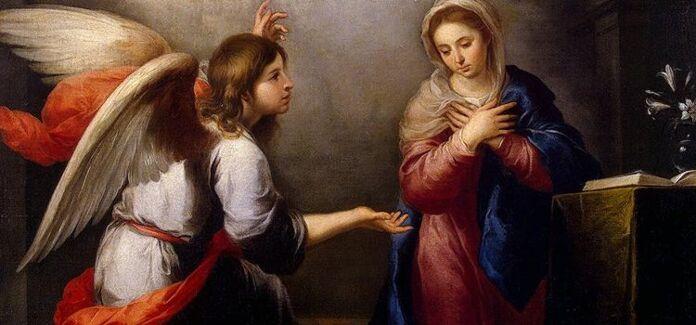 Fiat o sim de maria o anjo anuncia o nascimento de Jesus