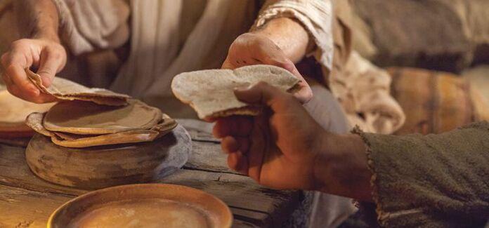 Jesus multiplica os pães